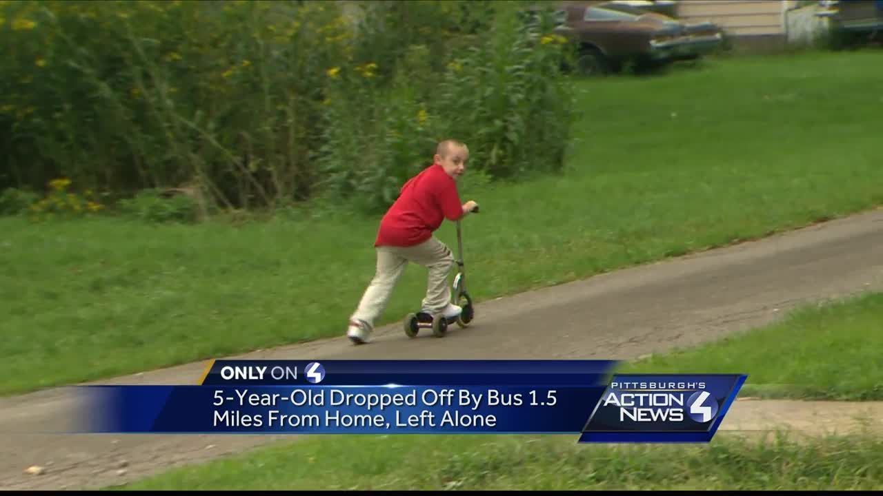 5-year-old dropped off bus 1 5 miles from home, left alone