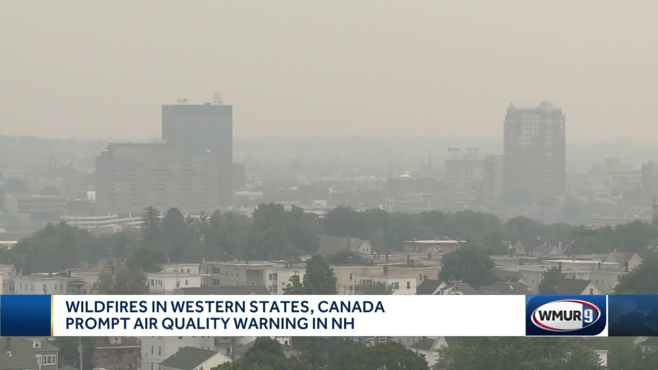 Wildfires in western states, Canada prompt air quality warning in NH