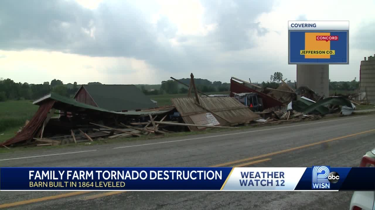 Family barn, built in 1864, destroyed by EF-1 tornado