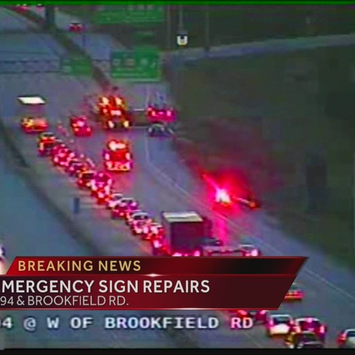 Traffic flowing after repairs caused backups at I-94 at