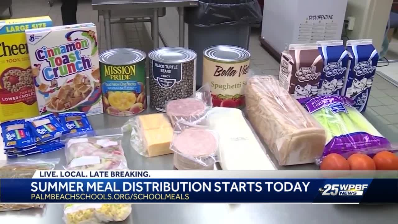 Palm Beach County School District starts summer meal distribution program
