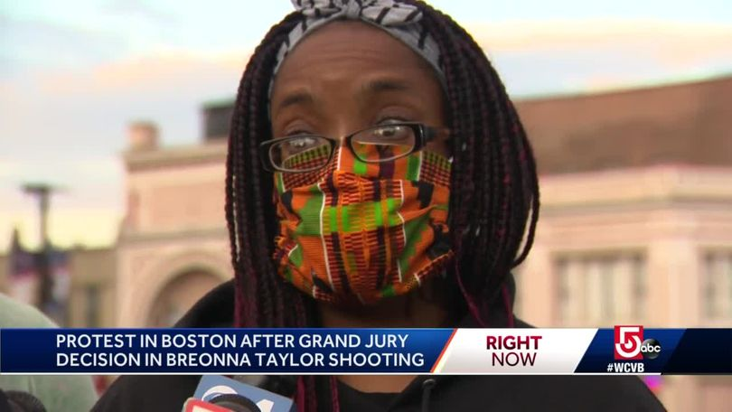 Activists Gather In Boston To Protest Decision In Breonna Taylor Case