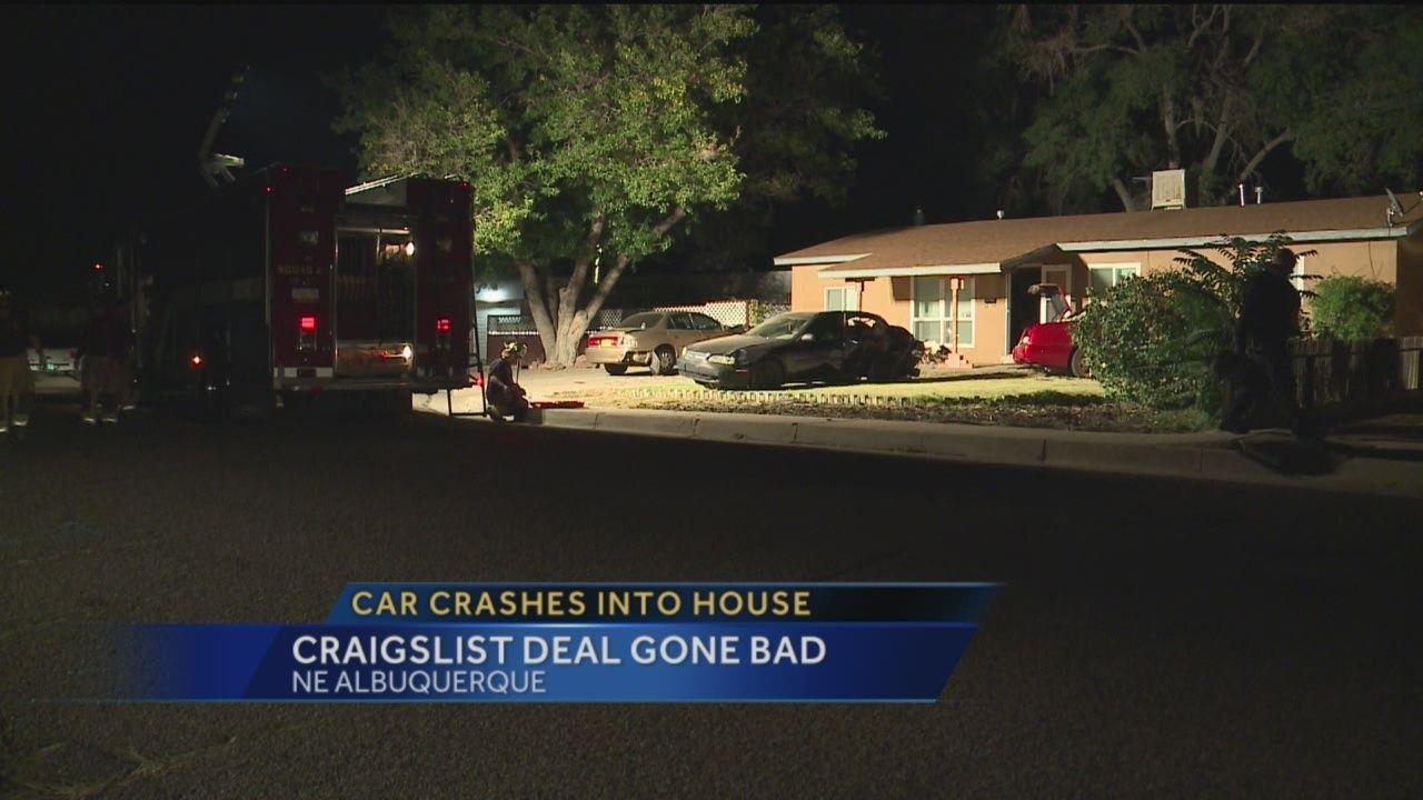 craigslist deal gone bad: car crashes into home
