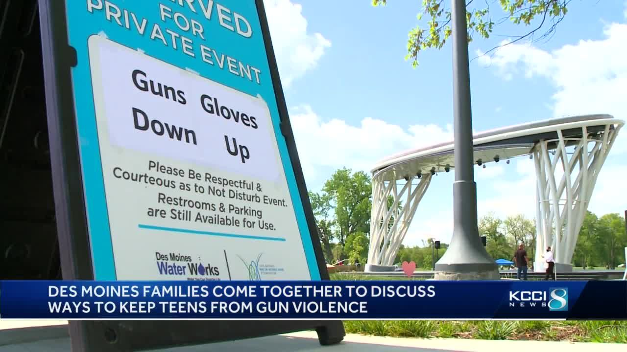 Guns Down, Gloves Up brings awareness of gun violence in Des Moines