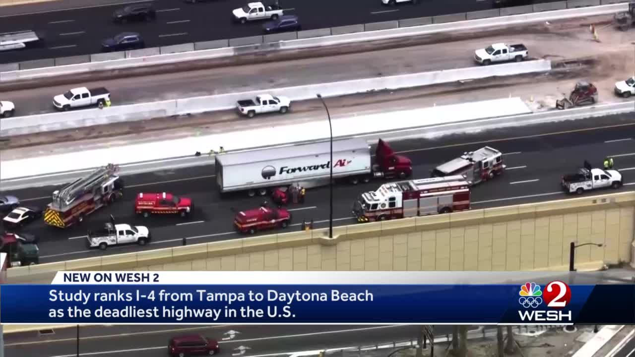 Study ranks I-4 as deadliest highway in the nation