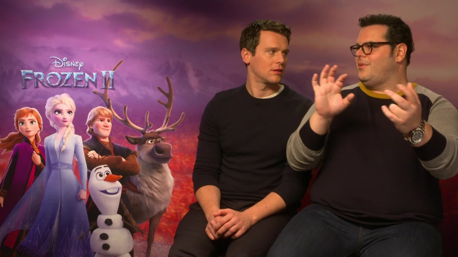 Frozen's Jonathan Groff and Josh Gad respond to fan theory about Kristoff and Santa