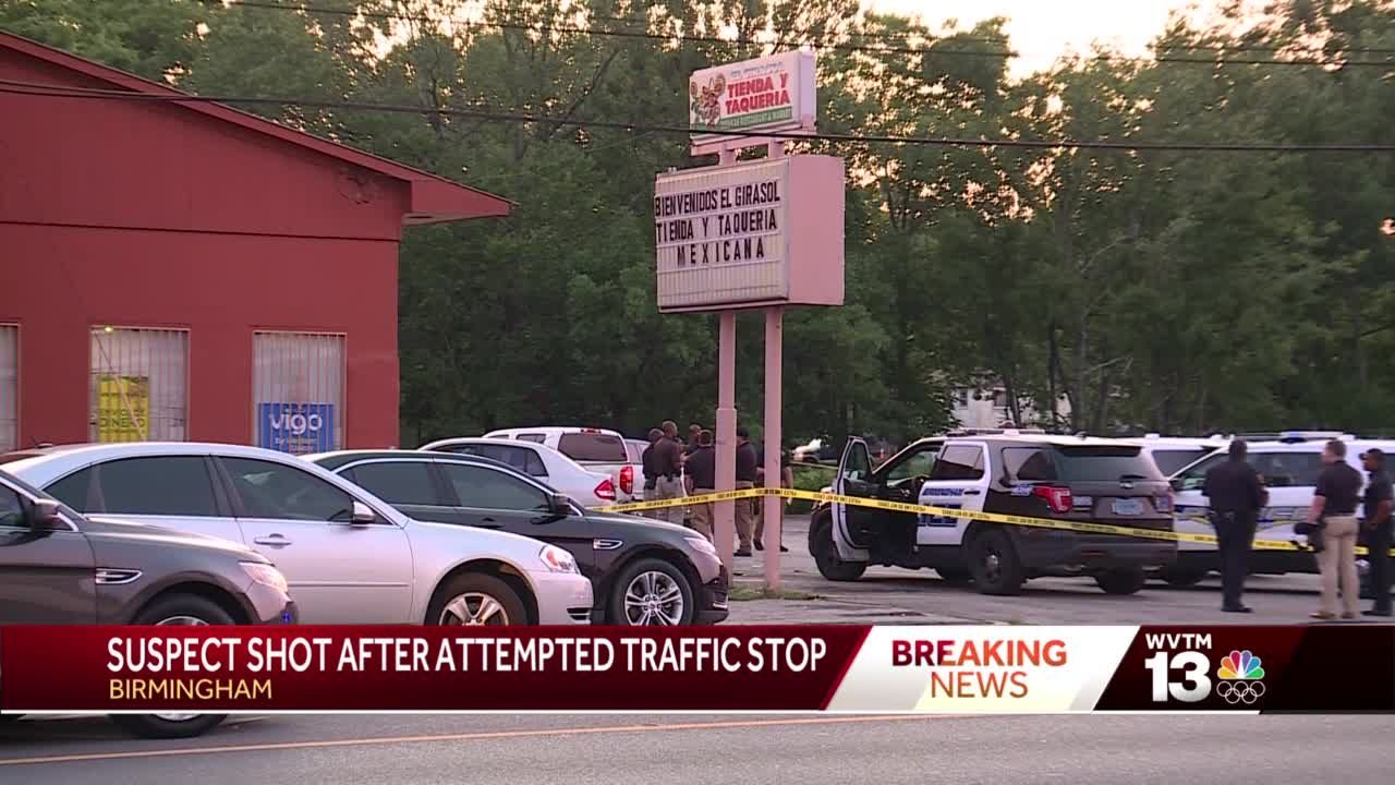 Birmingham police shoot man accused of erratic driving, fighting with officers