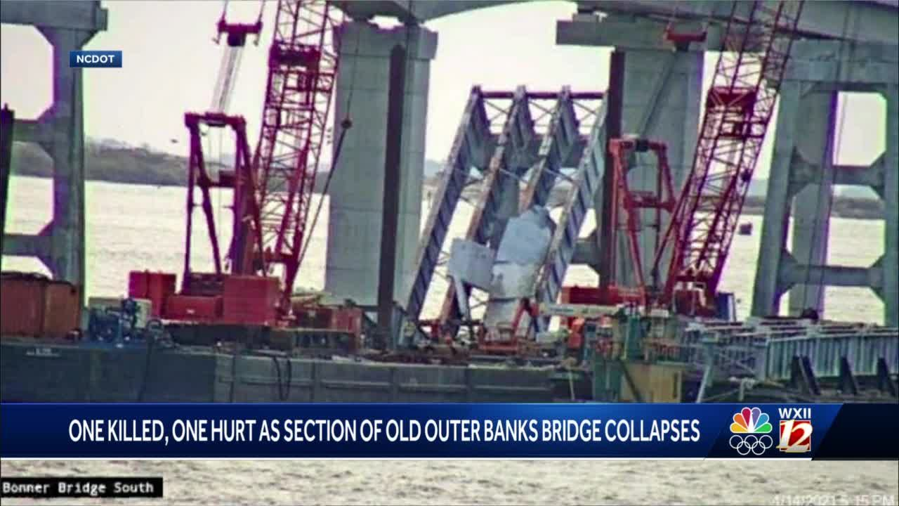 1 dead in collapse of old Outer Banks bridge, officials say