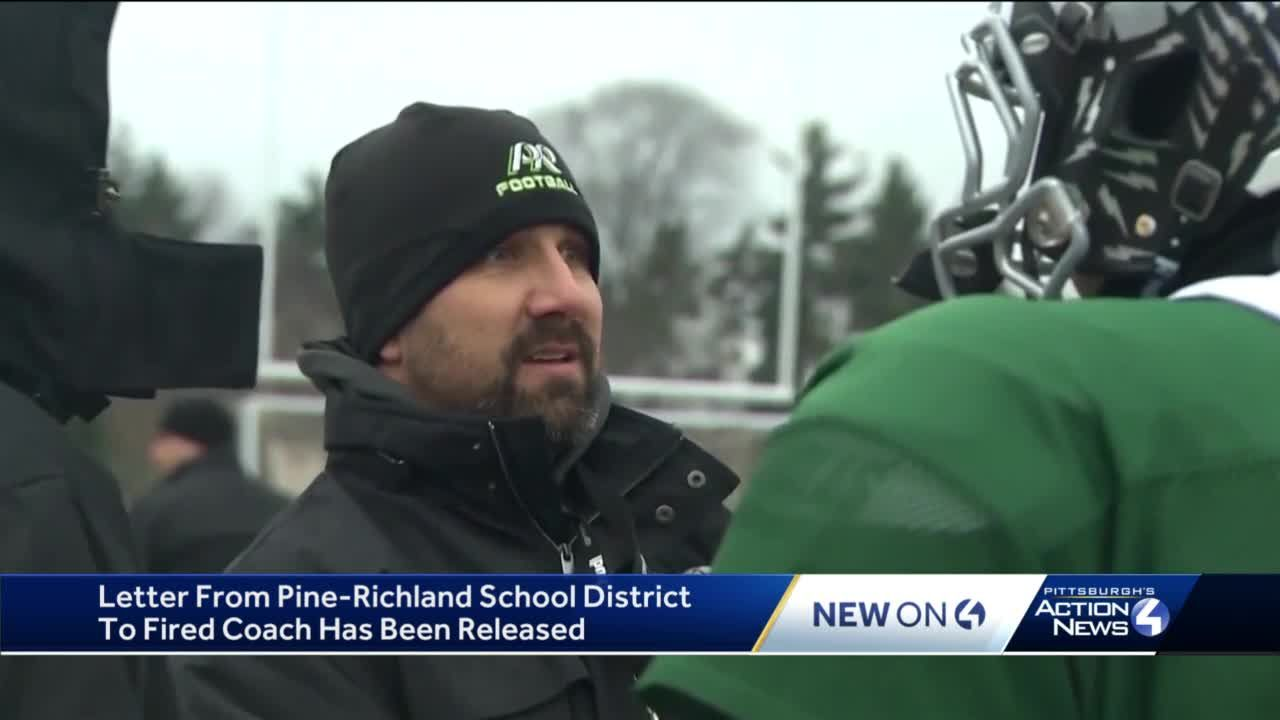 Former Pine-Richland football coach Eric Kasperowicz releases letter he received from school district