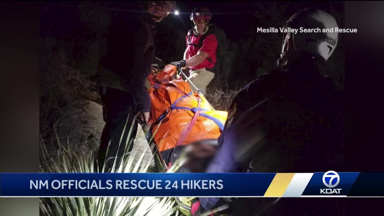 24 hikers rescued in New Mexico's Organ Mountains