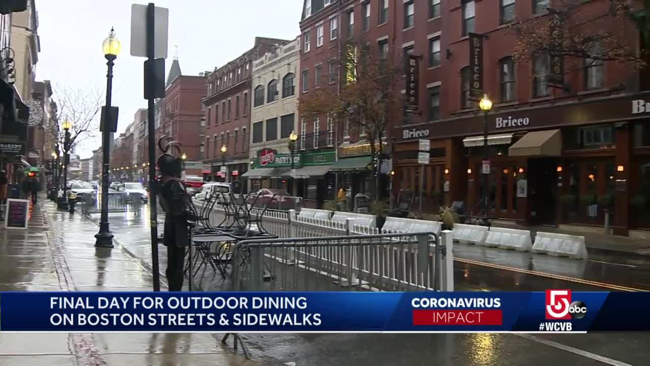 Outdoor dining ends in Boston leaving uncertainty
