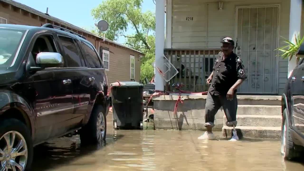 Standing water in New Orleans East neighborhood