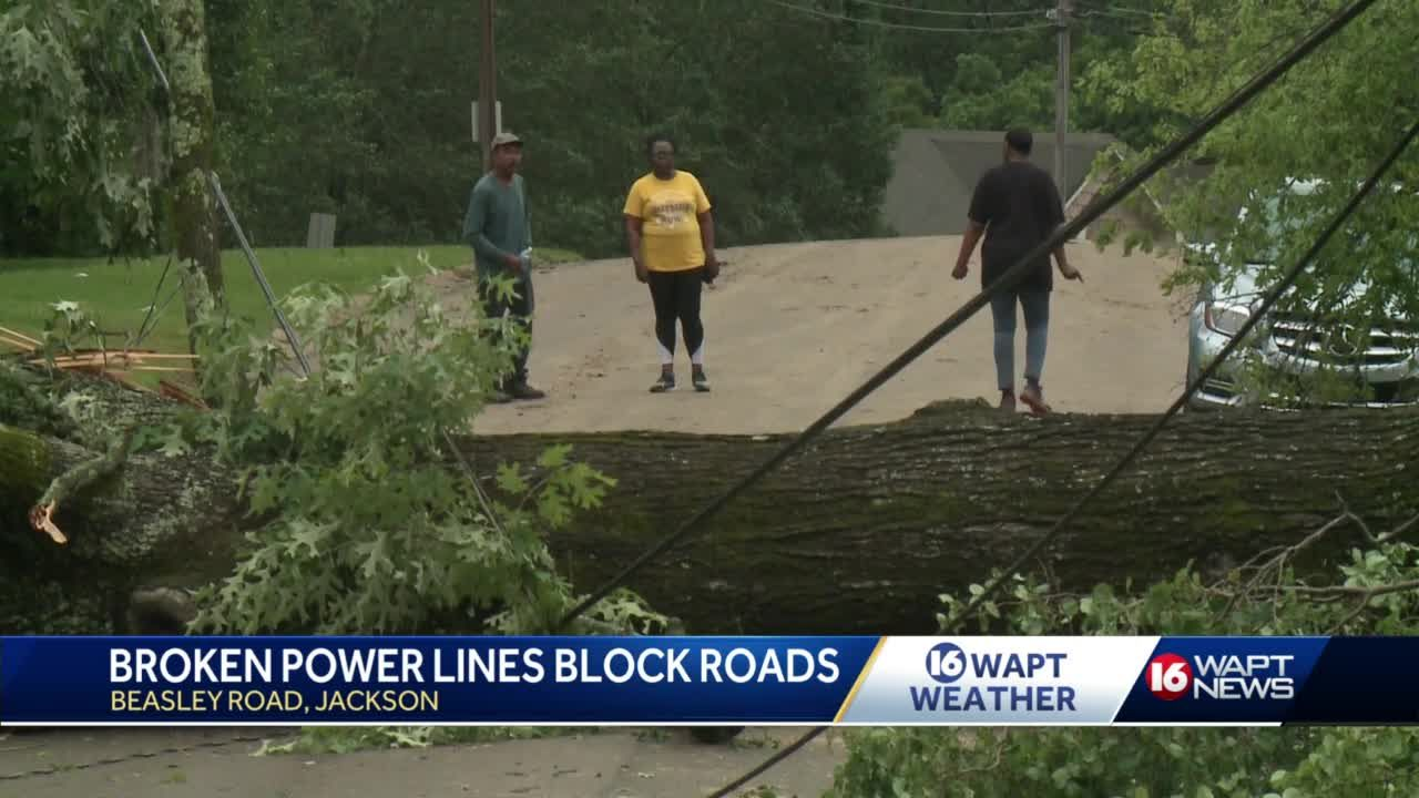 Jackson residents experience significant damage during Tuesday's severe storms