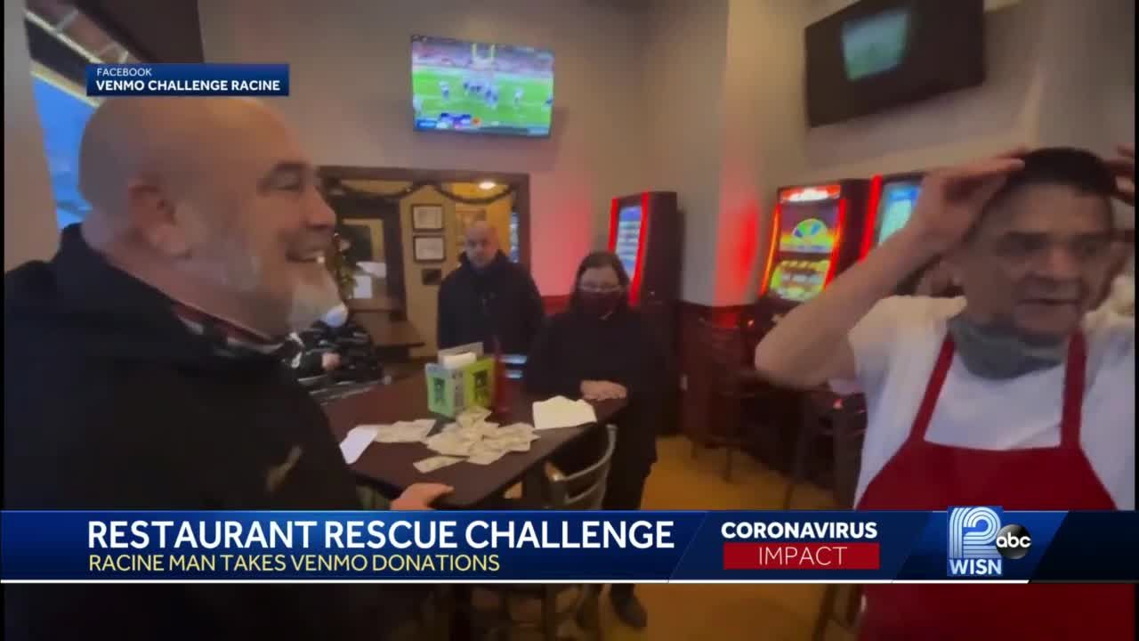 Man collects donations to surprise struggling small businesses