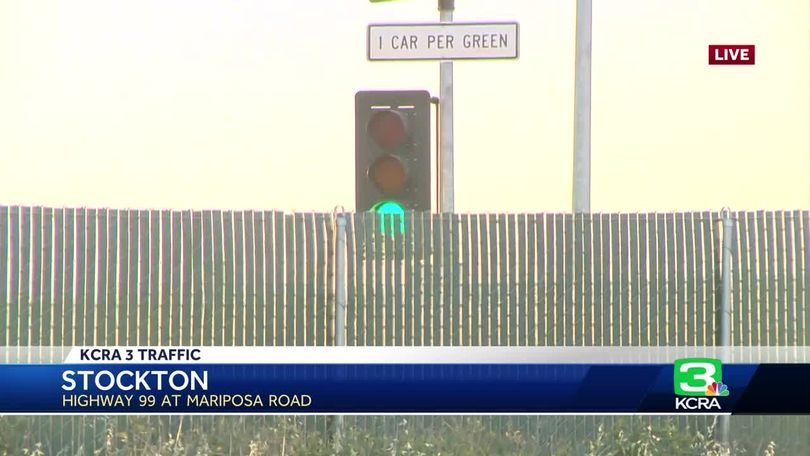New Hwy  99 metering lights aim to ease Stockton traffic