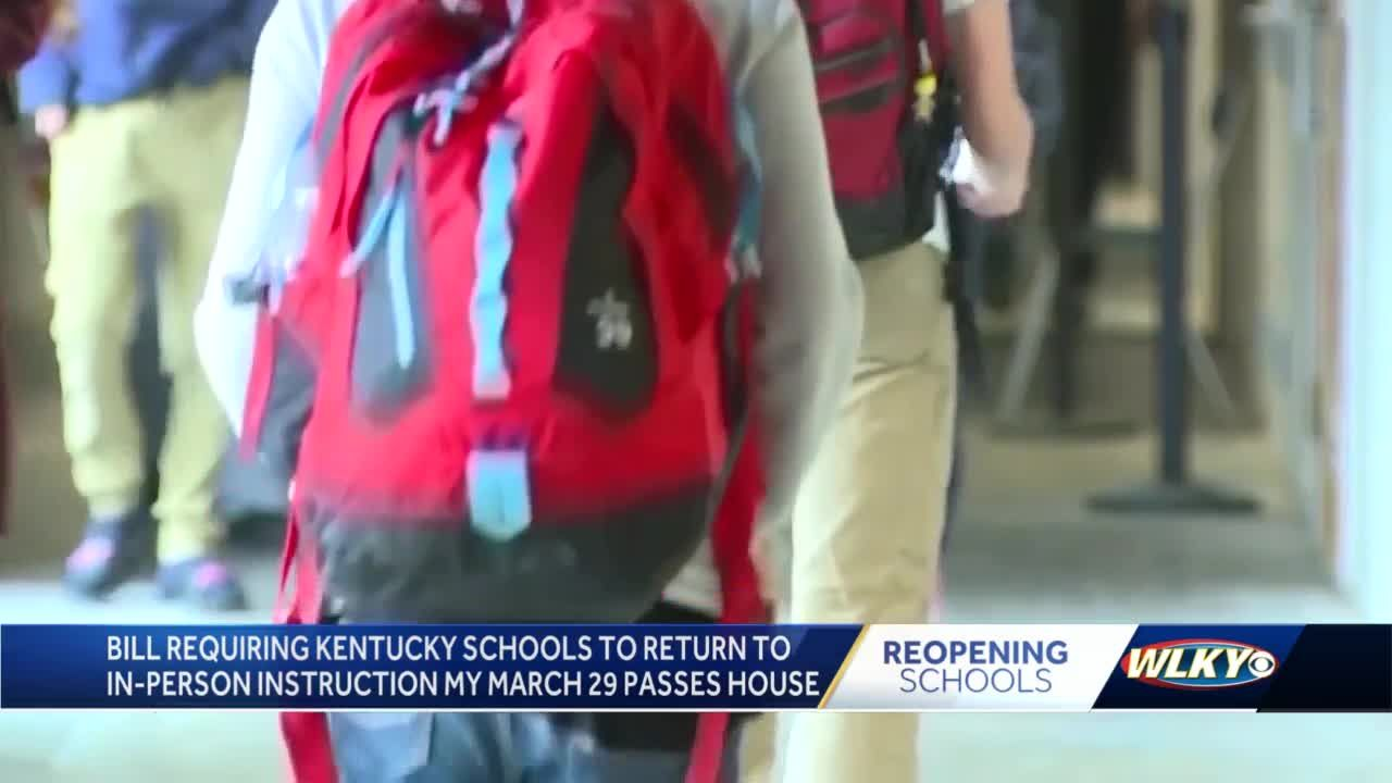 Amended education legislation requiring in-person instruction by end of March passes KY House