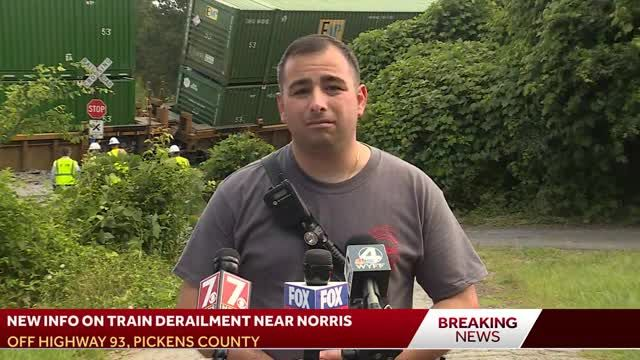 Officials give new information on Pickens County train derailment