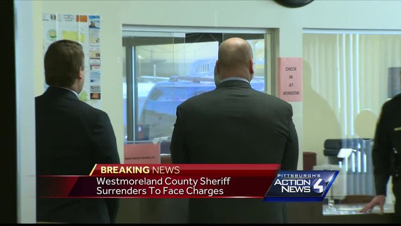 Westmoreland County Sheriff Jonathan Held surrenders to face
