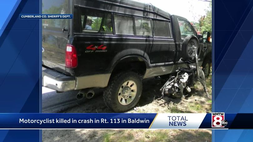 Motorcyclist killed in Baldwin crash