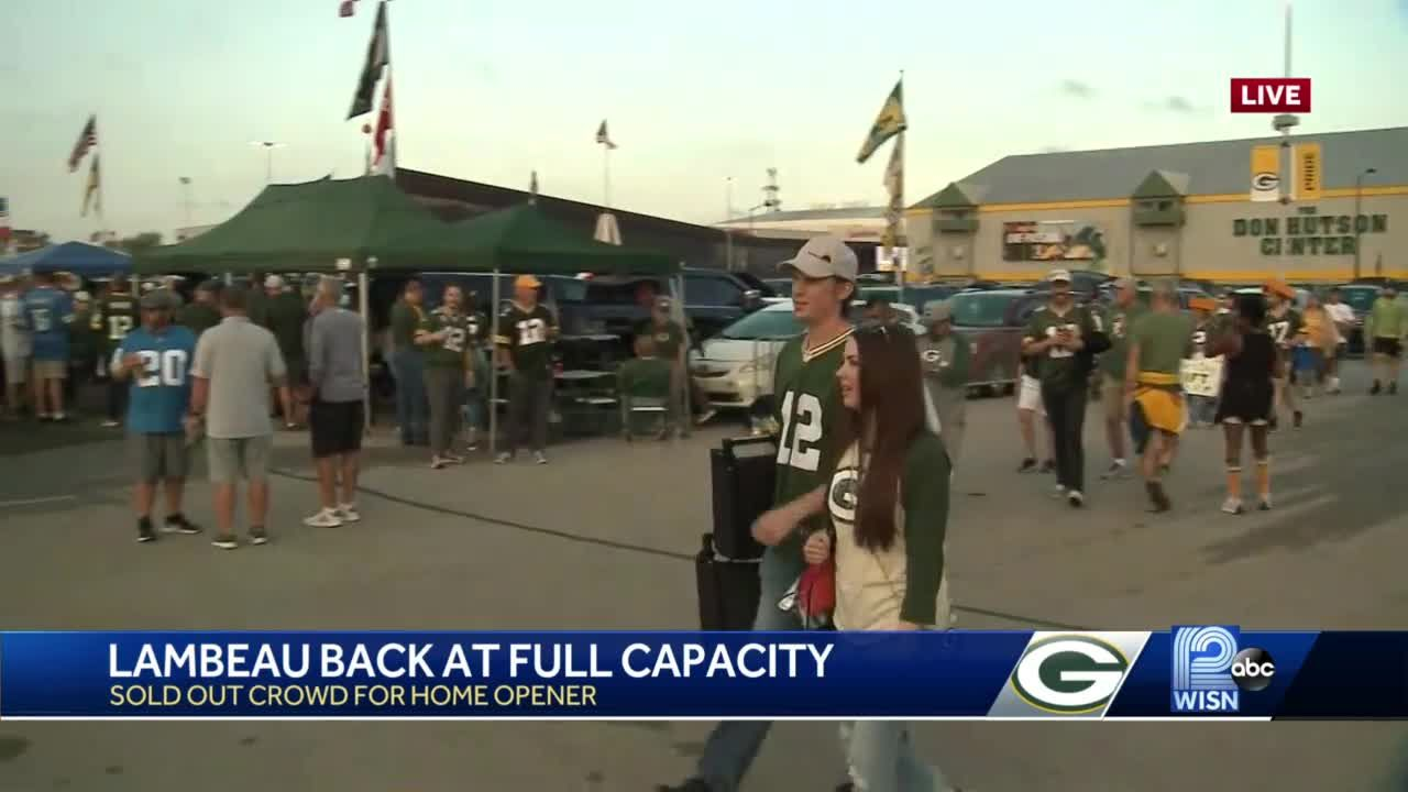 Packers fans to pack Lambeau for first home game