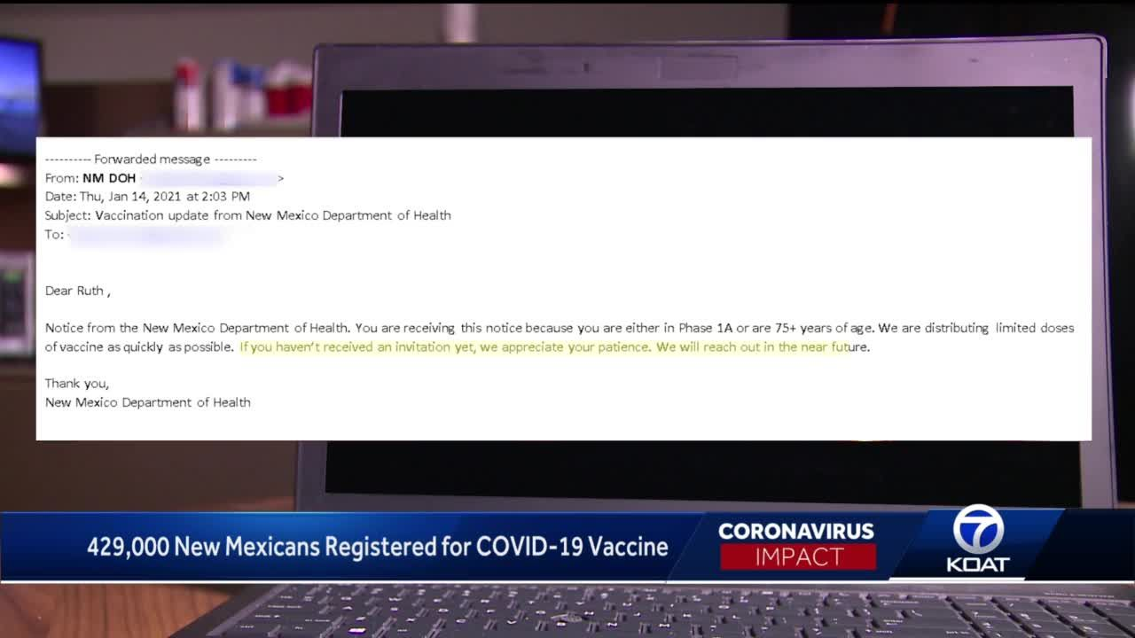 Dept. of Health sends 46,000+ messages to people eligible for the COVID-19 vaccine to wait longer