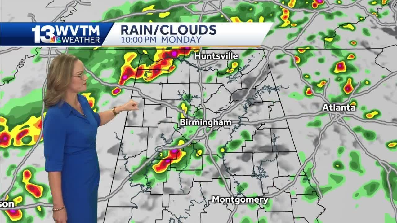 Rain Impacts Monday night travel