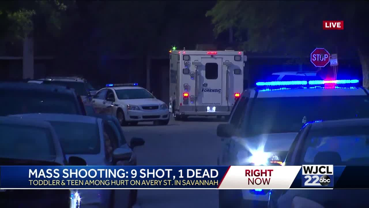 9 shot, 1 killed in Savannah mass shooting