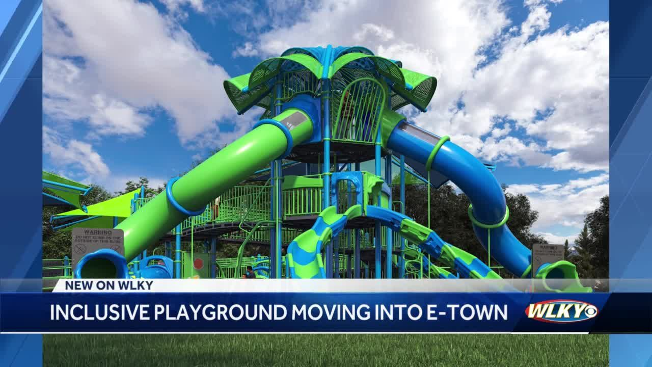 Coming soon to Etown: Playground will have sensory panels, will be 90% ADA accessible