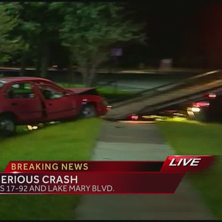 3 cars collide on busy Lake Mary road