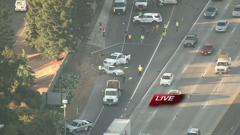 1 dead, 1 arrested in 6-vehicle crash on I-5 in Sacramento