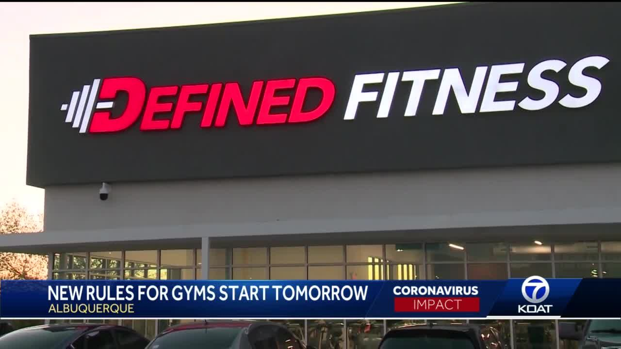 New rules for gyms start Wednesday