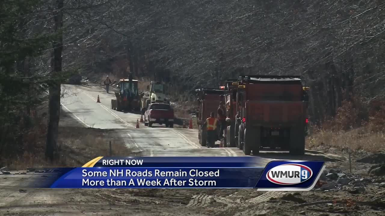 Some NH roads remain closed after storm
