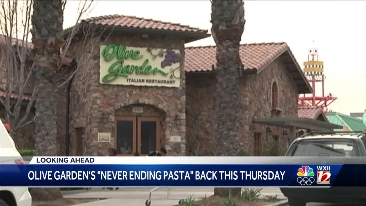 never ending pasta olive garden 2020