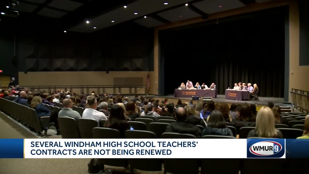 Large turnout at Windham School Board meeting to voice concerns over  teacher contracts