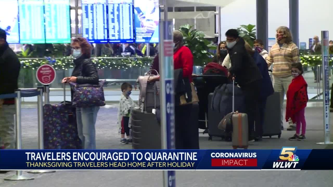 Travelers encouraged to quarantine