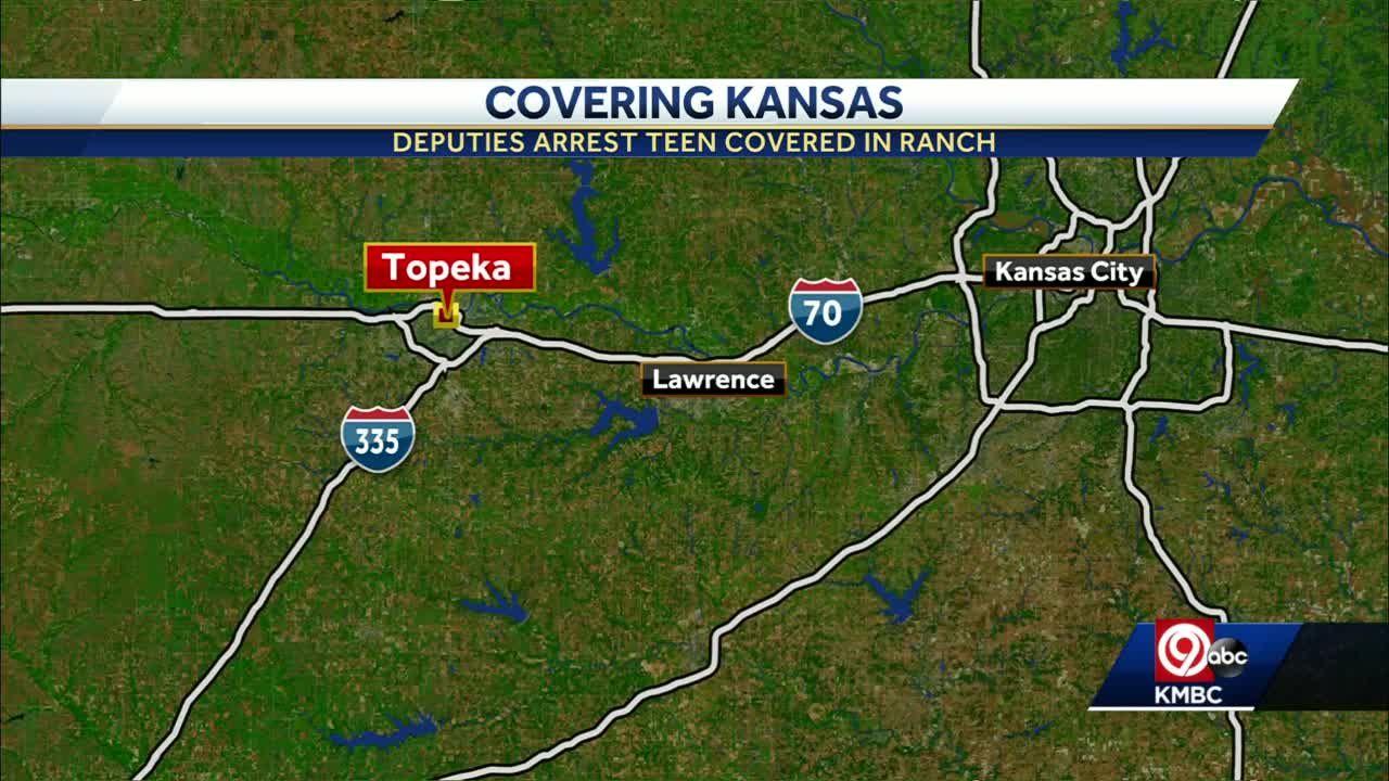 Kansas teen taken into custody after covering himself in ranch dressing, crashing car north of Topeka