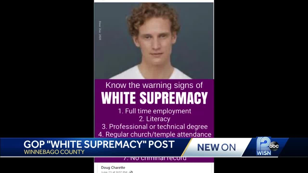 'White supremacy' GOP Facebook post