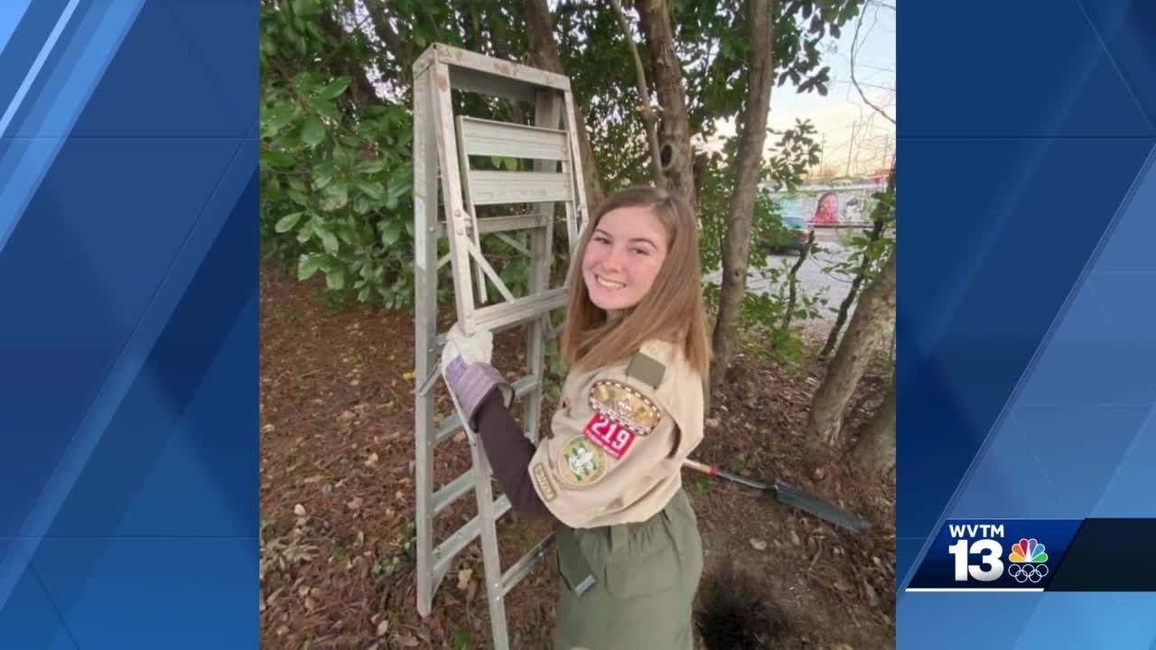 Shelby County's first female Eagle Scout builds information kiosk for local cat rescue