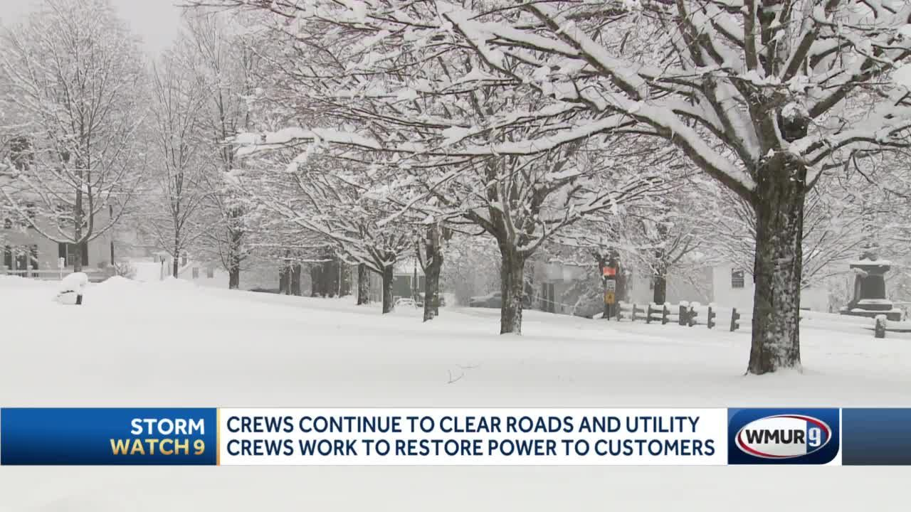 Crews continue to clear roads, restore power after nor'easter