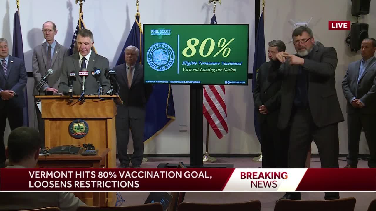 Vermont governor lifts pandemic restrictions as state reaches vaccine benchmark