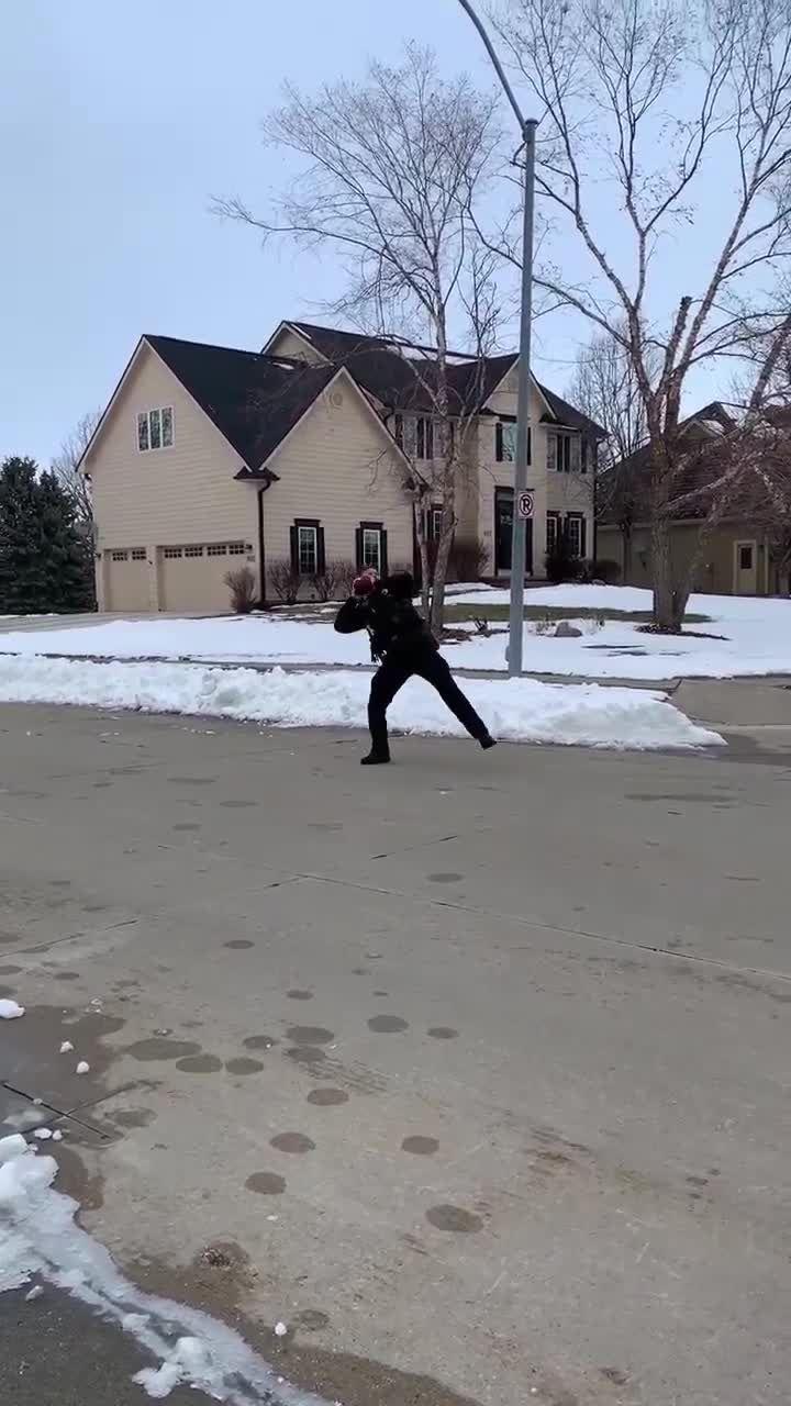 Watch: Ankeny officer plays street football with neighborhood kids