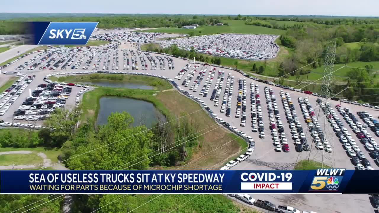 Thousands of new trucks sit useless in NKY waiting on parts suffering global shortage