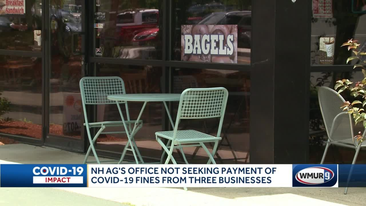 NH AG's office not seeking payment of COVID-19 fines from three businesses