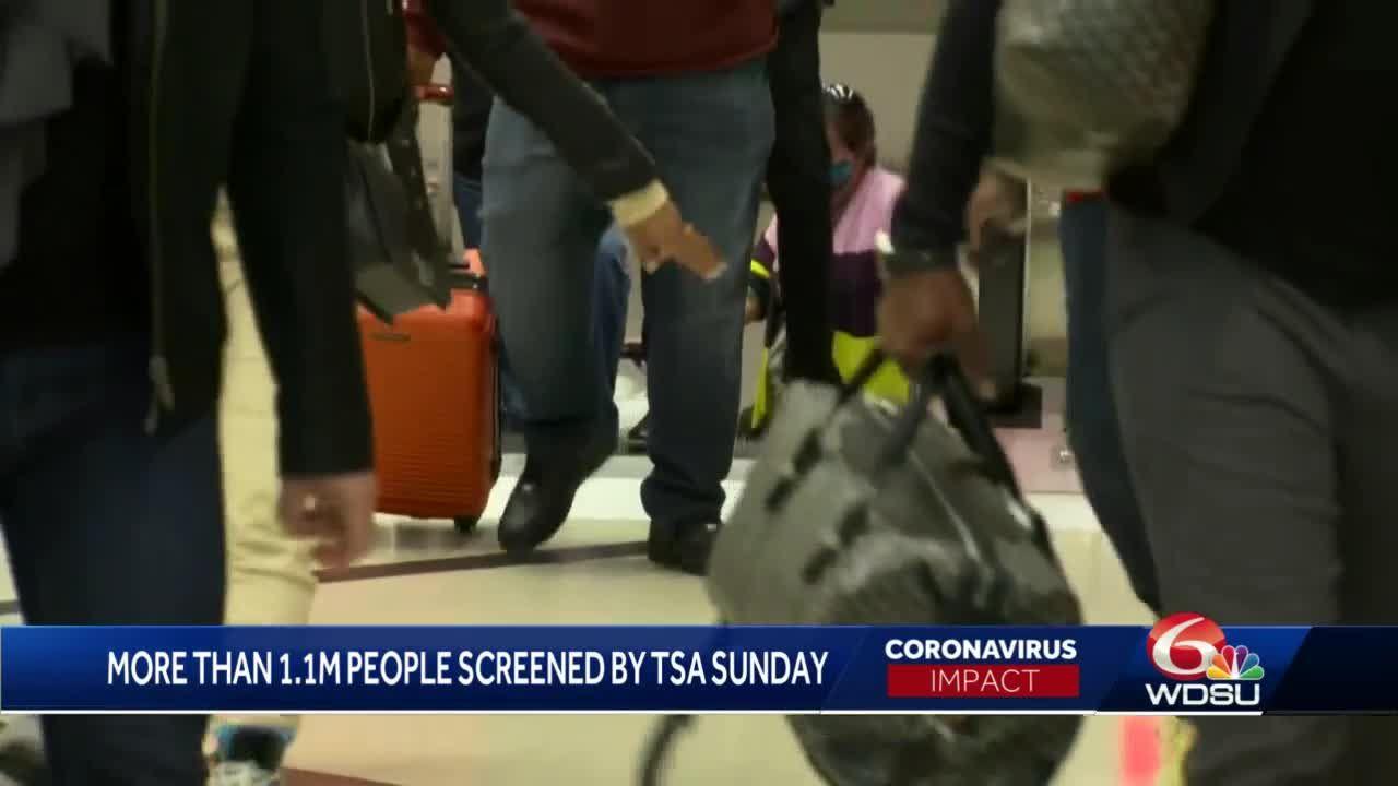 TSA: Thanksgiving travel highest since pandemic began in March