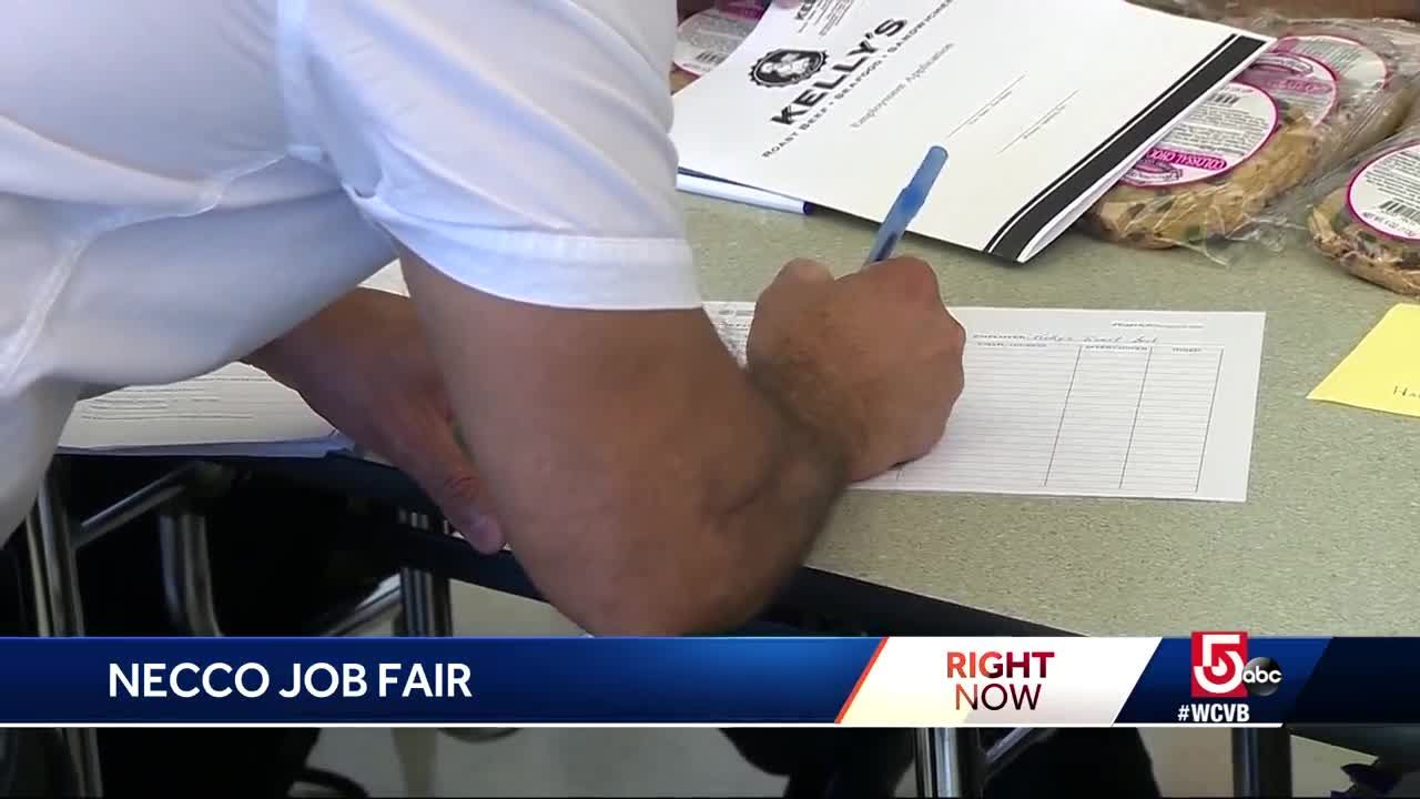 former necco workers attending job fair after company closes