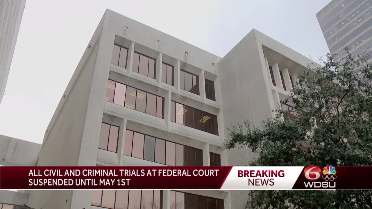 Criminal, civil jury trials suspended until May