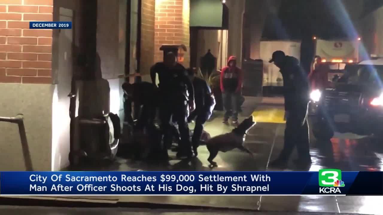 Sacramento, man reach settlement after officer shoots at dog