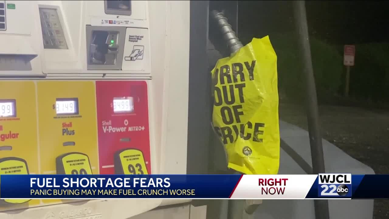 Fuel shortages in Georgia, South Carolina