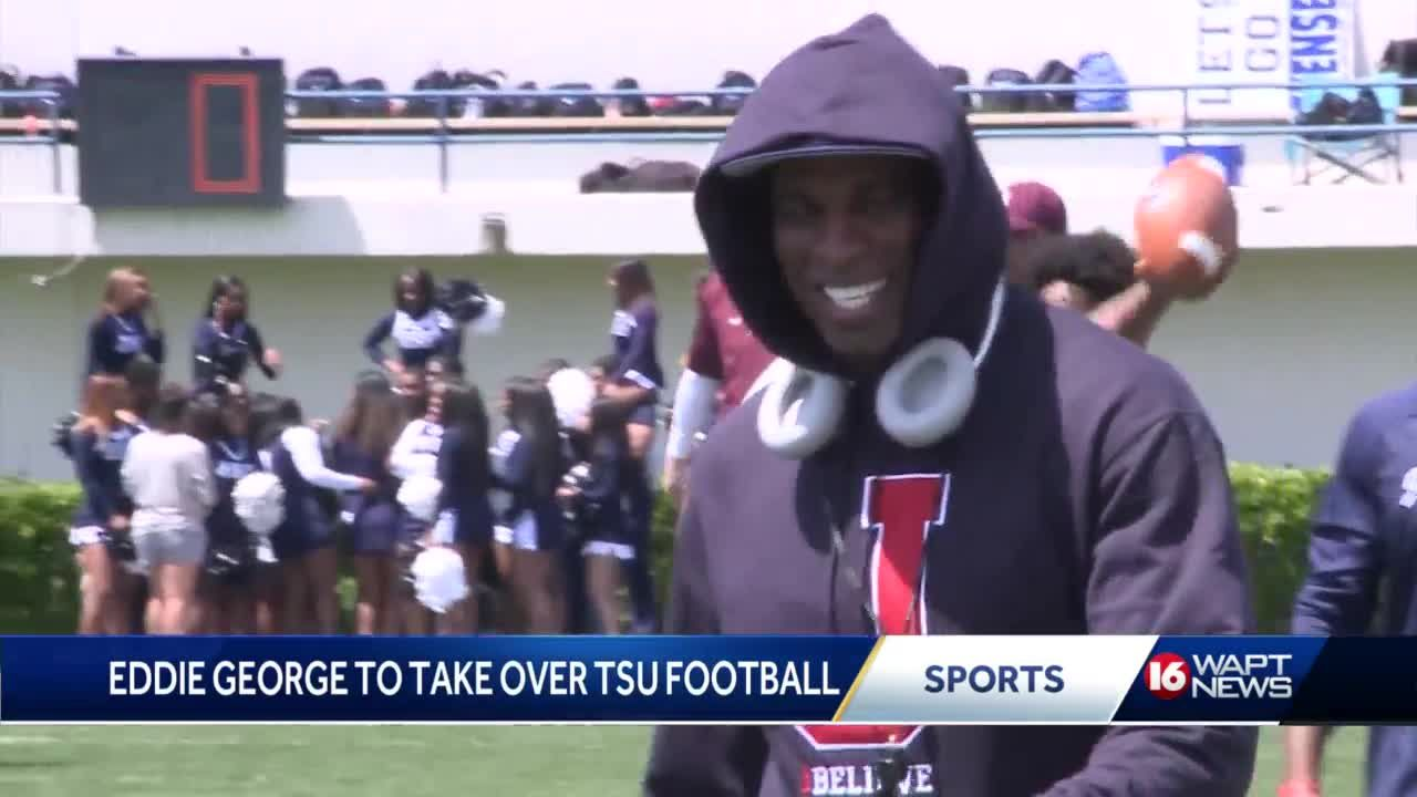 Coach Prime reacts to Eddie George coming to TSU