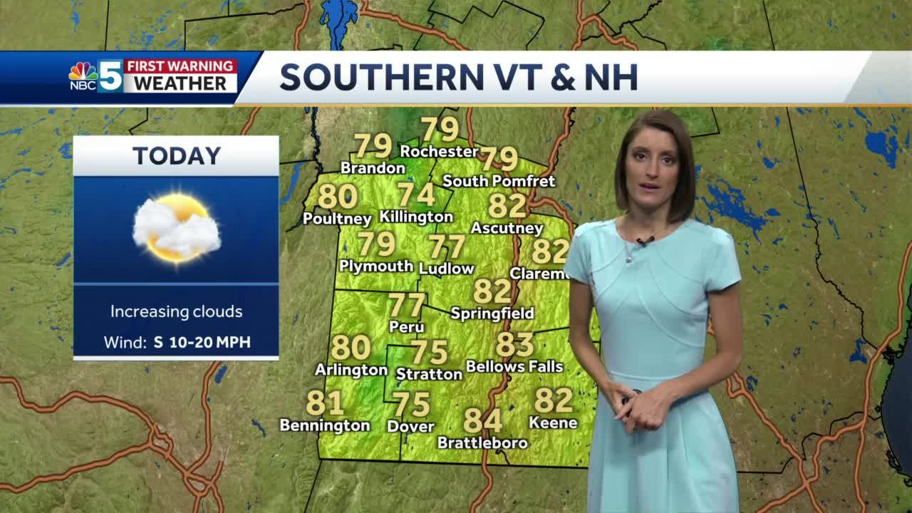 Video: Clouds increase today 6/18/21
